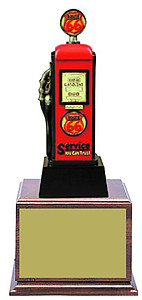 Route Sixty-Six Gas Pump Trophies in Two Size Options