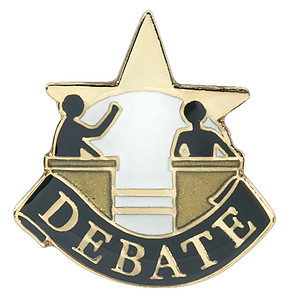 Debate Lapel Pin, Debate Letter Pin