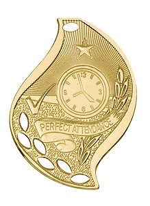 Flame Design Perfect Attendance Medals as Low as $1.40
