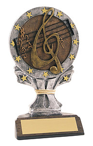 Resin Music Trophy Statue R655