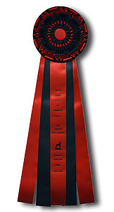 Livestock Three Streamer Rosette Ribbons