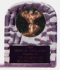 Acrylic Block Ice Bodybuilding and Weightlifting Awards