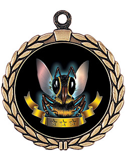 Hornet Mascot Medal HR905-7173 with Neck Ribbon