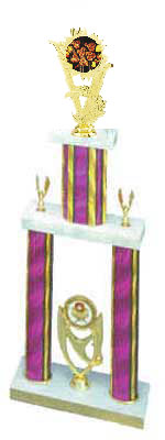 DPS Cooking Trophies double post, stacked column design.