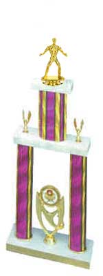Boxing Trophies, Wrestling Trophies, 2DPS Double Post Stacked Trophies