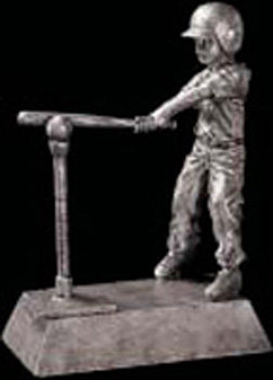 Girl's T-Ball Resin Trophy Statue 50828