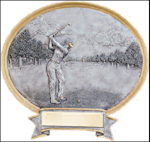 Women's Resin Golf Plaque Award