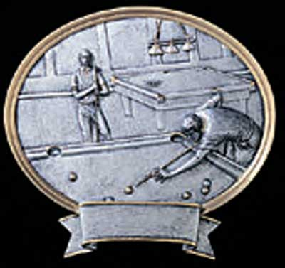 Male Resin Billiard Plaque or Pool Plaque Award