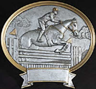 Resin Oval Male Equestrian Plaque Award