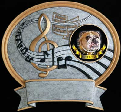 Resin Music Plaque Award