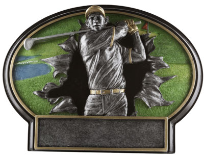 Burst Thru Golf Plaque Award