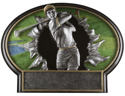 Burst Thru Women's Golf Plaque Award