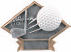 Resin Golf Plaque Award DPS16
