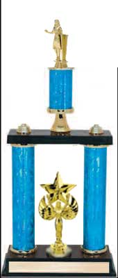 2DPC Academic Trophies with double post and stacked column design.