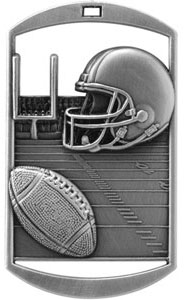 DT212 Dog Tag Football Medal with Six Pricing Options