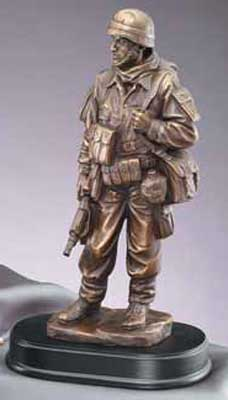 Standing At Ease Soldier Sculpture