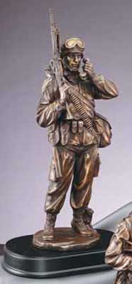 Military Communications  Soldier Statue