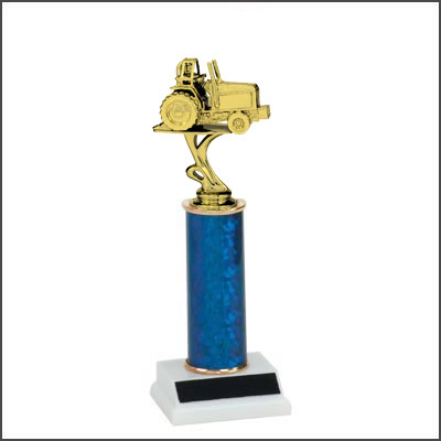 Tractor Show Trophies and Tractor Pull Trophies with Single Round Column