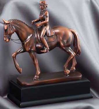 Resin Female Dressage Sculpture