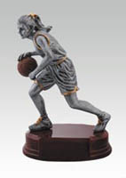 Girls' Resin Basketball Statue Trophy