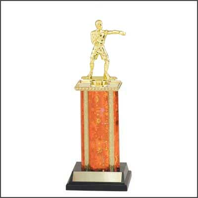 Wrestling Trophies, Boxing Trophies, Single Rectangular Column