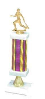 S1R Baseball Trophies with Single Rectangular Column and Riser