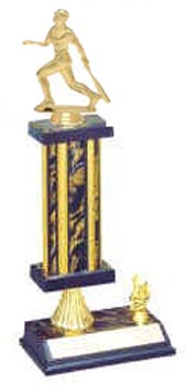 S2R Baseball Trophies with Single Rectangular Column. Riser and Trim
