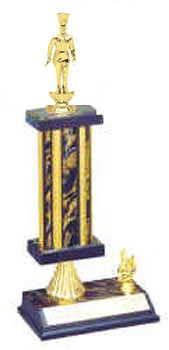 S2R Cooking Trophies with single rectangular column, riser, and added trim.