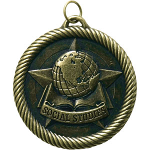 Social Studies Medal VM-268 with Neck Ribbon