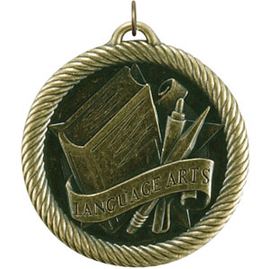 Language Arts Medal VM-293 Includes Neck Ribbon