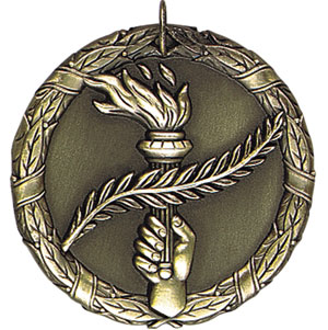 Victory, Achievement, Torch Medals XR-290 with Neck Ribbons