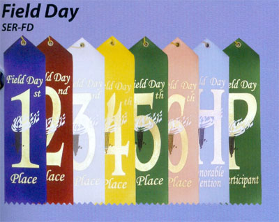 Card and String Field Day Ribbons in Packs of 25