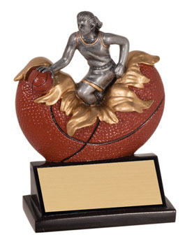 Girls Xploding Basketball Trophies
