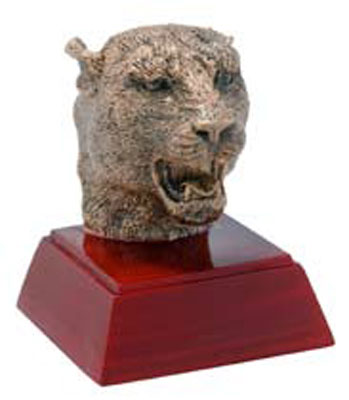 Promote Panther School Spirit with Mascot Trophy or Bobble Head