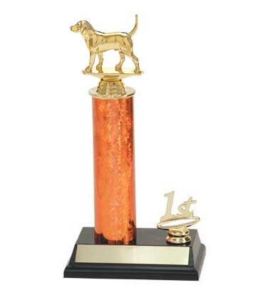 R2 Dog Trophy with a single round column and trim.