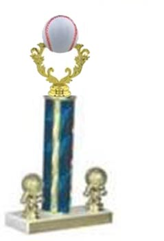 Trophy with Single Round Post and 2 Trim Figures