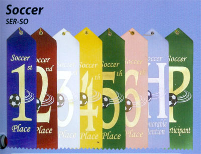 Stock Soccer Ribbons