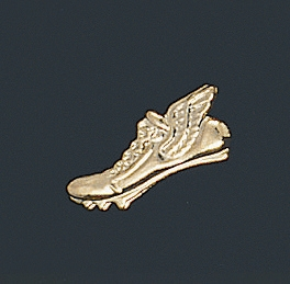 Winged Shoe Track Letter Pin