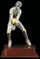 Men's Resin Volleyball Trophy Statue 55518GS