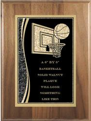 Designer Basketball Plaques Three Wood Types