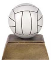 Resin Painted Volleyball Trophy