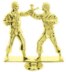 Double Male Martial Arts Trophy Figure RP80955