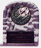 Acrylic Block Ice Soccer Trophy