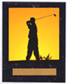N Style Black Marble Finish Golf Plaque
