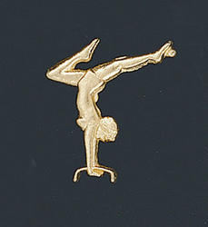 Female Gymnastics Letter Pin