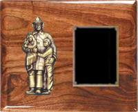 Solid Walnut  Fireman Plaque Award F4