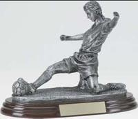 Girls' Soccer Trophy Statue 526