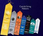 Custom Printed Card and String Ribbons for Clubs and Organizations
