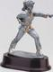 Resin Women's Martial Arts Trophy Statue