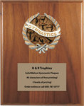 Gymnastics Plaques with 40 characters of Free Engraving